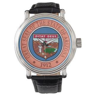 Reloj Representante del símbolo de la bandera de Estados
