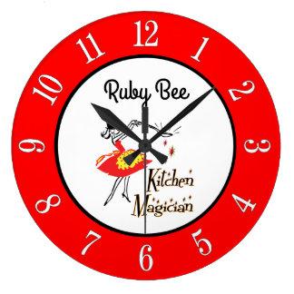 Reloj retro de los números de la cocina de los