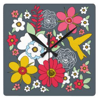 Reloj retro del Wildflower