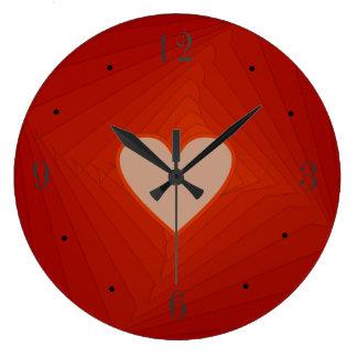 Reloj Redondo Grande Reloj rojo con los regalos de Centre>Valentines