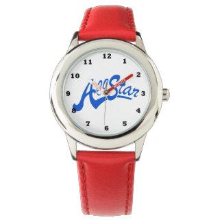 Reloj rojo de All Star de los niños