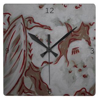 Reloj Cuadrado Reloj rojo de Eagle