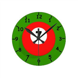 Reloj rojo de la bola de billar