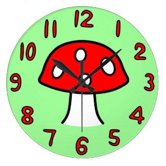 Reloj rojo de la seta