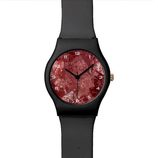 Reloj rojo del collage May28th del Grunge
