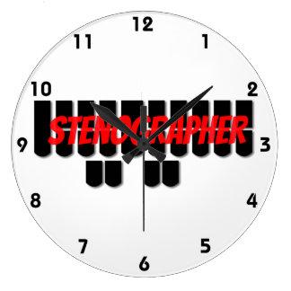 Reloj rojo y negro de la llave de la máquina de