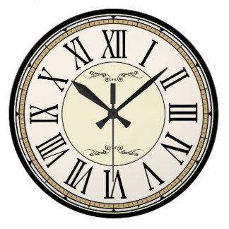 Reloj romano antiguo de los números del Victorian