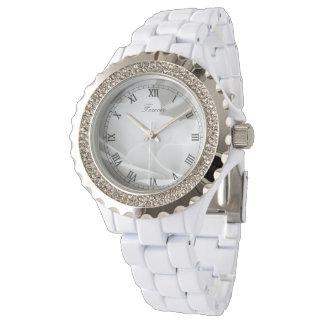 Reloj Rosa blanco para siempre