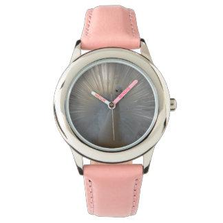 Reloj Rosa del acero inoxidable del pavo real