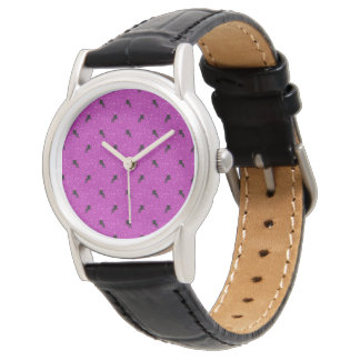 Reloj rosa del modelo del unicornio