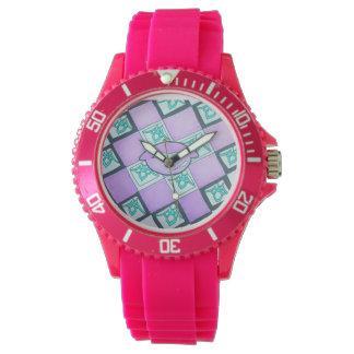 Reloj Rosa gráfico de la colección del labio