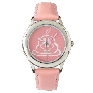 Reloj rosado del acero inoxidable del 鲍鲍