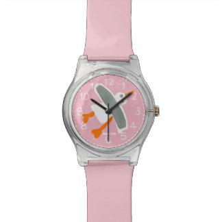 Reloj rosado del arte: Gaviota de Cornualles el