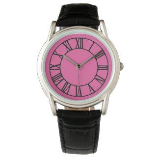 Reloj rosado elegante