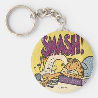 Reloj sensacional de Garfield, llavero