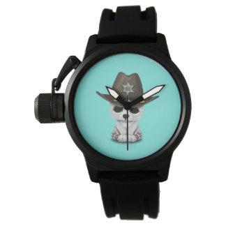 Reloj Sheriff lindo de Cub del oso polar del bebé