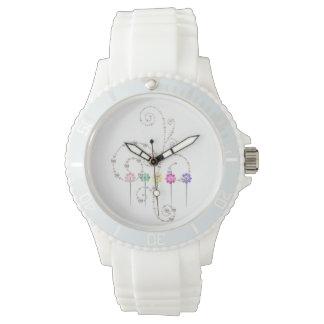 Reloj Silicio blanco deportivo de encargo