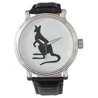 Reloj Silueta del canguro