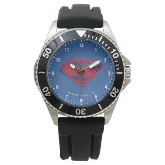Reloj Símbolo del superhombre del cepillo y del tono