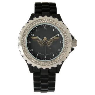 Reloj Símbolo metálico de la Mujer Maravilla de la liga