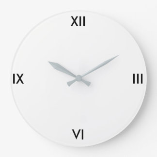Reloj simple (blanco)
