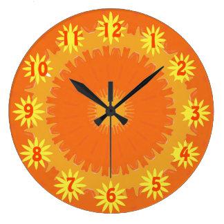 Reloj Redondo Grande Reloj soleado y más caliente