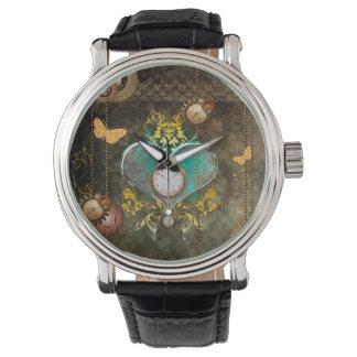 Reloj Steampunk, corazón maravilloso
