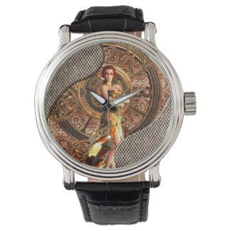 Reloj Steampunk, mujeres hermosas del vapor