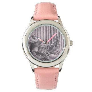 reloj suave del tela de la estafa de conejo de
