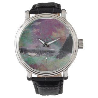Reloj Sueño de la fantasía de la ballena de la orca -