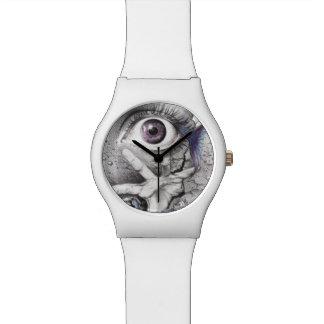 """Reloj surrealista del dibujo del ojo de la """"nadada"""