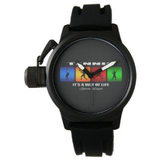 Reloj Tenis fresco es una manera de vida (el varón)