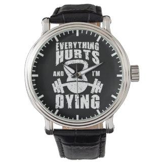 Reloj Todo daña y estoy muriendo - entrenamiento