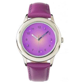 Reloj tropical púrpura de la flor