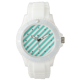 Reloj Trullo y modelo diagonal blanco de las rayas