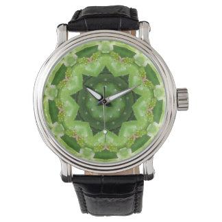 Reloj Un fractal estrellado del cactus