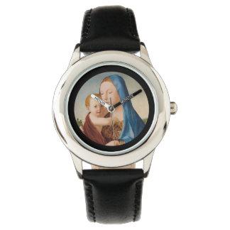 Reloj Un retrato de Maria y del bebé Jesús