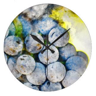 Reloj único del vino y de la uva para la