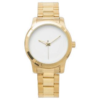 Reloj unisex de gran tamaño de la pulsera del oro
