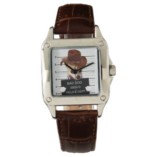 Reloj vaquero de la chihuahua - perro del sheriff
