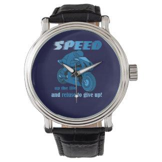 Reloj Velocidad-Azul del brillo