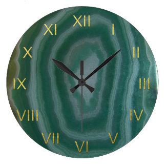 Reloj verde de la ágata con falsos números del