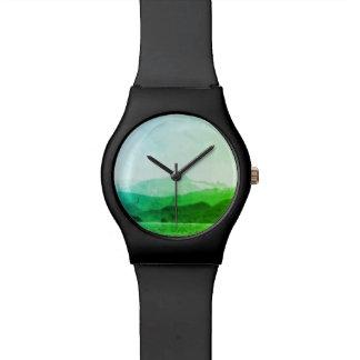 Reloj verde de las montañas