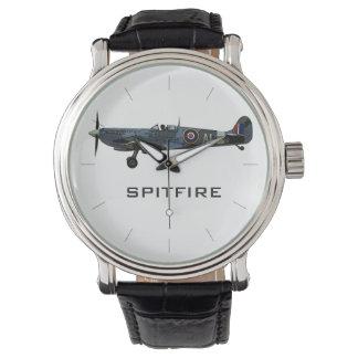 Reloj Vintage de los aviones del SPITFIRE el   WWII