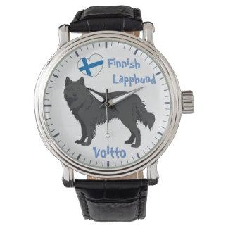 Reloj Watch finlandés Lapphund black Lapinkoira
