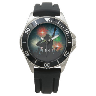 Relojes de encargo del monograma de DJ de la