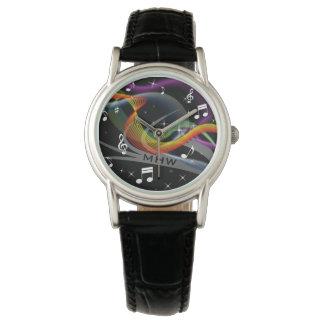 Relojes de encargo del monograma del ejemplo de la
