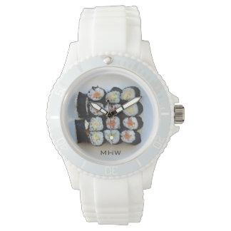 Relojes de encargo del monograma del sushi