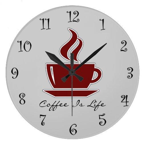 Relojes de pared de la cocina del caf zazzle - Relojes pared cocina ...