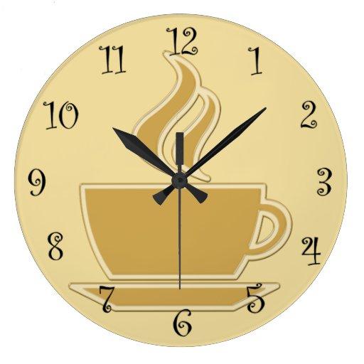 Relojes de pared de la cocina del caf zazzle - Relojes para cocina ...